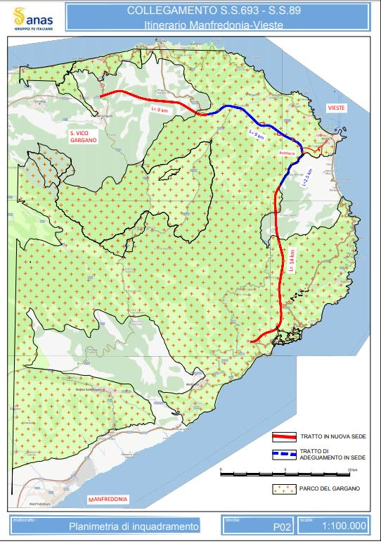 progetto allungamento superstrada ss693 del gargano